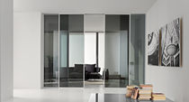 aluminium and glass sliding door MOD. IVE 1V  GAROFOLI