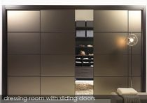 aluminium and glass sliding door for walk-in wardrobe DTR ALBA RUBIO
