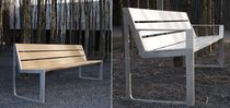 aluminium and wood contemporary public bench SKA PROGRAMME  	 ONN Outside