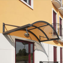 aluminium canopy for doors and windows TUNNEL SHELTER WITH TIE RODS VITRUM MIONI