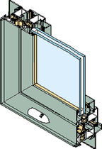 aluminium casement french window with thermal break ESPACE &reg; 50 TH INSTALLUX