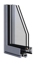 aluminium double glazed casement window with a thermal break OPTICA ALUMAFEL