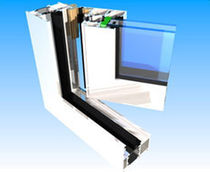 aluminium double glazed casement window with a thermal break MAS W60: INSWING McMullen Architectural Systems Ltd.