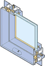 aluminium double glazed casement window with a thermal break ESPACE ® 50 TH INSTALLUX