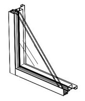 aluminium double glazed fixed window SERIES 425 Commdoor Aluminum