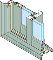 aluminium double glazed sliding window with a thermal break GALAXIE ® 26 TH INSTALLUX