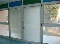 aluminium double swing door  S.T. VETRERIA SOMBRA DO SOL TM