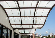 aluminium entrance canopy (polycarbonate cover)  rodeca