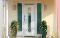 aluminium entrance door with sidelight CLASSIC HAAS HOCO ITALIA