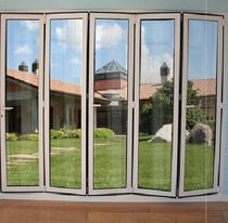 aluminium fold-and-slide patio door 45V ALUK GROUP