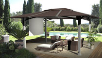 aluminium gazebo (resin wicker covering) FARE 5 x 4 FARE OUTDOOR