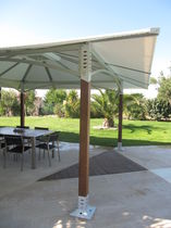 aluminium gazebo (resin wicker covering)  FARE OUTDOOR