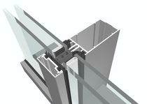 aluminium profile for structural curtain wall SERIE AT 500 F AKOTHERM