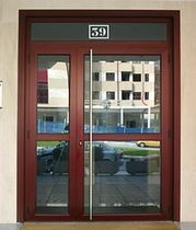 aluminium swing door with a thermal break FORMA THERMIC ALUMAFEL