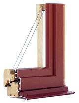 aluminium-wood double glazed casement window with thermal break MIXTHERM Menuiserie David