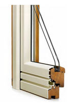aluminium-wood double glazed casement window A3 CORMO