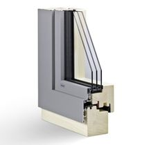 aluminium-wood triple glazed casement window SLIM3 Haring Engineering Ltd