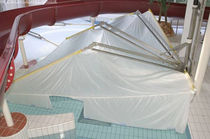 automatic pool cover with articulated arms INDUBRELLA inducon
