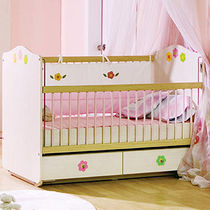 baby bed with drawers (girls) BABY FLOWER Cilek AS