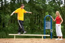 balance beam for fitness trail  BYO Playground, Inc.