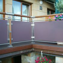balustrade with glass panels BZ 11 GROT