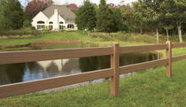 bar fence 2-RAIL POST & RAIL WITH CERTAGRAIN® TEXTURE Certain Teed