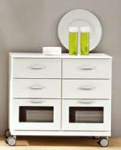 bathroom cabinet with casters MIRO IDEAL BAGNI