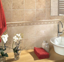 bathroom ceramic wall tile: stone look VULCANO MAYOLICA AZULEJOS