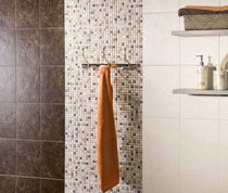 bathroom ceramic wall tile: stone look ALPINA MAYOLICA AZULEJOS