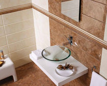 bathroom ceramic wall tile: stone look GRANADA MAYOLICA AZULEJOS