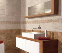 bathroom ceramic wall tile: stone look CAPUCCINO MAYOLICA AZULEJOS