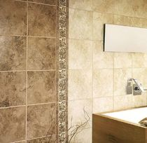 bathroom ceramic wall tile: stone look ALPES MAYOLICA AZULEJOS