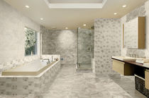 bathroom ceramic wall tile: marble look SILK AZULEJOS PLAZA