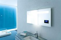 bathroom illuminated mirror with integreted radio RADIO Arlex Italia