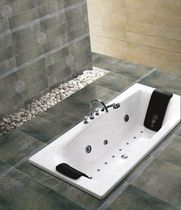 bathroom porcelain stoneware floor tile: stone look CAVE  BRENNERO