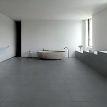 bathroom porcelain stoneware floor tile: stone look SENSIBLE GREY Eiffelgres