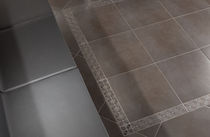 bathroom porcelain stoneware floor tile: stone look  Keradéco
