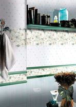 bathroom porcelain stoneware wall tile: floral pattern BLOOMING. BRENNERO