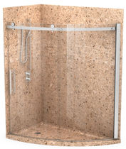 bathroom stone wall tile  Alumax Bath Enclosures