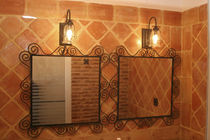 bathroom terracotta wall tile: rustic  Ceramicas Antonio Aleman
