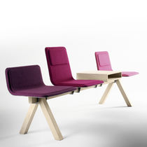 beam chair with tablet LAIA by Jean Louis Iratzoki Alki