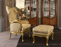 berg&egrave;re wingchair with footstool LIBERTY :585 MEDEA