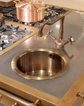 brass round kitchen sink LVR020 RESTART