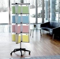 brochure display rack with casters  Helit