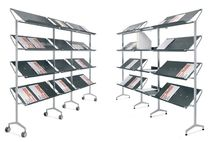 brochure display rack with casters LOOK PLANNING SISPLAMO