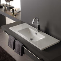 built-in porcelain washbasin NUEVO MONTEVIDEO The Bath Collection
