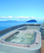 built-in stainless steel hot-tub YACHT APPLICATION Diamond Spas