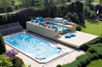 built-in swim spa AQUAPLAY 430 CLAIR AZUR
