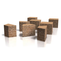 cardboard contemporary stool ECO by Paolo Gentile drydesign