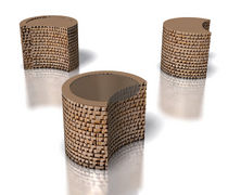 cardboard design side table LUNATICO by Paolo Gentile drydesign